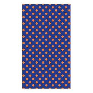 Lunares azules y anaranjados tarjetas de visita