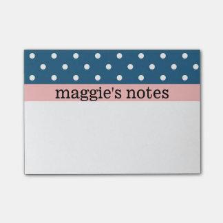 Lunares azules y blancos notas post-it®