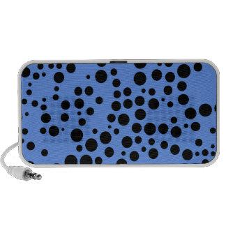Lunares azules y negros del Cornflower Laptop Altavoces