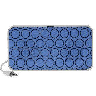 Lunares azules y negros del Cornflower Laptop Altavoz