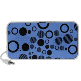 Lunares azules y negros del Cornflower iPhone Altavoz