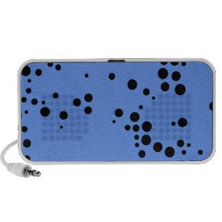 Lunares azules y negros del Cornflower Notebook Altavoces