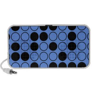 Lunares azules y negros del Cornflower iPod Altavoces