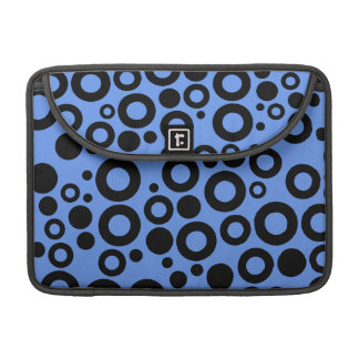 Lunares azules y negros del Cornflower Funda Macbook Pro
