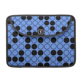 Lunares azules y negros del Cornflower Fundas Para Macbook Pro