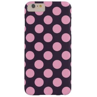 Lunares azules y rosados funda de iPhone 6 plus barely there