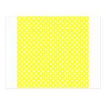 Lunares - blanco en amarillo eléctrico postal