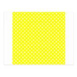 Lunares - blanco en amarillo postal