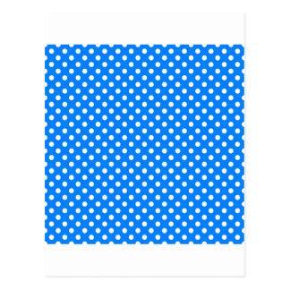 Lunares - blanco en azul postal