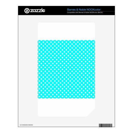 Lunares - blanco en ciánico skins para NOOK color