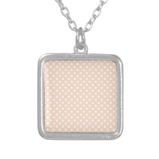 Lunares - blanco en el albaricoque collar