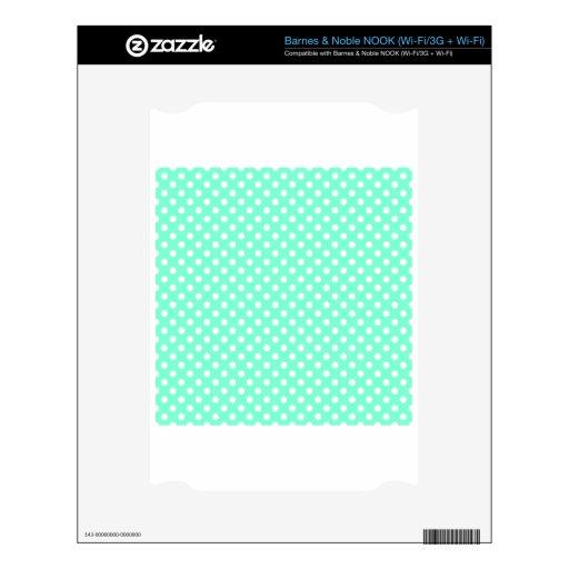 Lunares - blanco en el Aquamarine NOOK Skin
