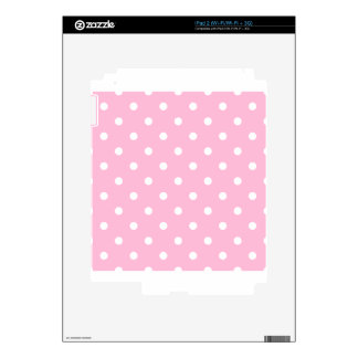 Lunares - blanco en el caramelo de algodón calcomanías para el iPad 2