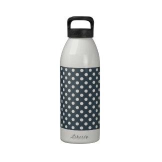 Lunares - blanco en el carbón de leña botellas de agua reutilizables
