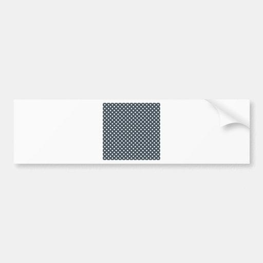 Lunares - blanco en el carbón de leña pegatina de parachoque
