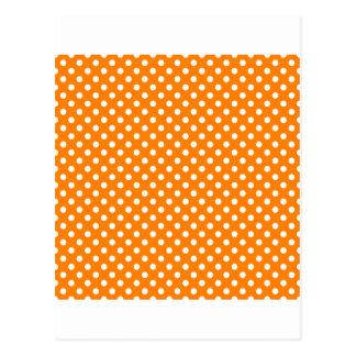 Lunares - blanco en el naranja postal