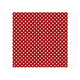 Lunares - blanco en el rojo oscuro de Apple de Postal