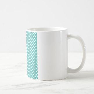 Lunares - blanco en el verdete taza