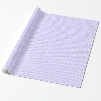 Lunares - blanco en la lavanda pálida papel de regalo