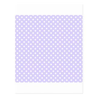 Lunares - blanco en la lavanda pálida tarjetas postales