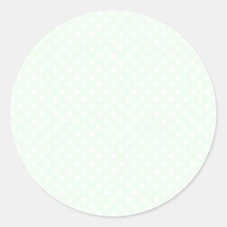 Lunares - blanco en la ligamaza pegatina redonda