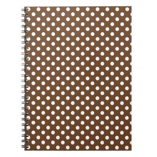 Lunares - blanco en la nariz de Brown Libro De Apuntes