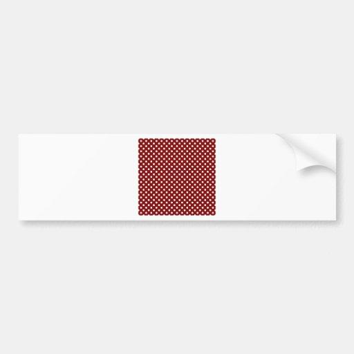 Lunares - blanco en marrón pegatina de parachoque