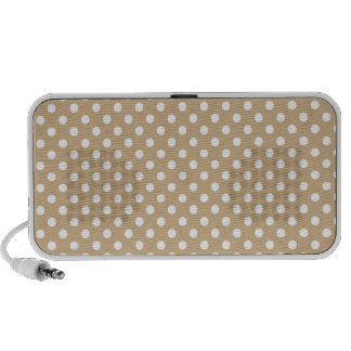 Lunares - blanco en moreno iPod altavoz