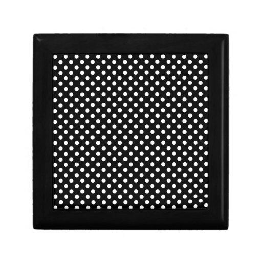 Lunares - blanco en negro caja de joyas