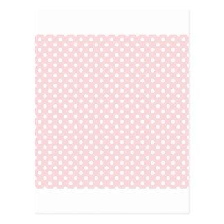 Lunares - blanco en pálido - rosa postal