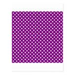 Lunares - blanco en púrpura postal