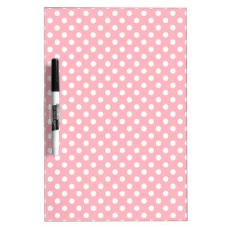 Lunares - blanco en rosa claro tablero blanco