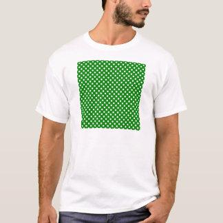 Lunares - blanco en verde playera