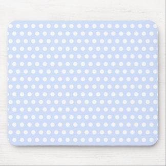 Lunares blancos en azules cielos tapete de ratones