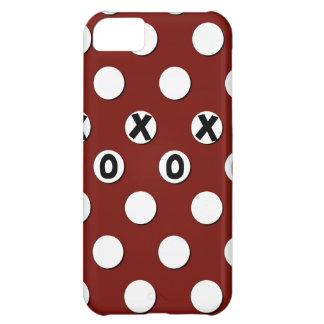 Lunares blancos en el fondo rojo XXX OOO Funda Para iPhone 5C