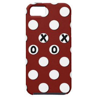 Lunares blancos en el fondo rojo XXX OOO iPhone 5 Fundas