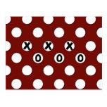 Lunares blancos en el fondo rojo XXX OOO Postal