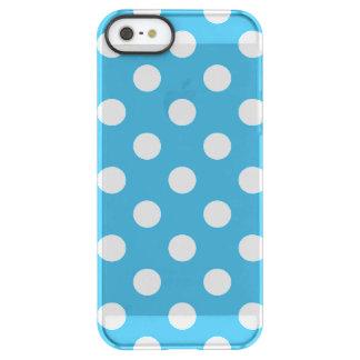 Lunares blancos en fondo del azul de pavo real funda permafrost® para iPhone SE/5/5s