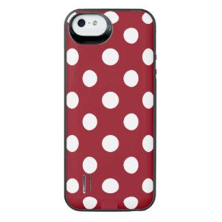 Lunares blancos en rojo carmesí funda power gallery™ para iPhone 5 de uncommon