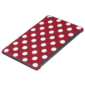 Lunares blancos en rojo carmesí fundas de iPad mini retina