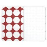 Lunares blancos en rojo cuadernos