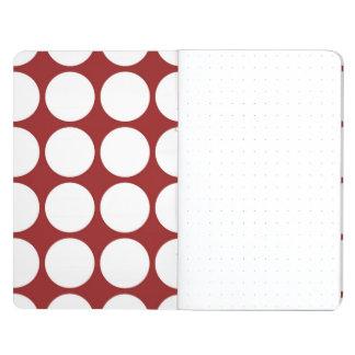 Lunares blancos en rojo cuadernos grapados