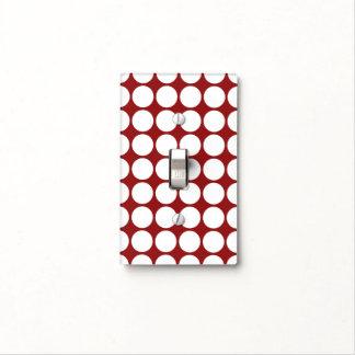 Lunares blancos en rojo cubiertas para interruptor