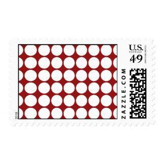 Lunares blancos en rojo sello