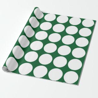Lunares blancos en verde