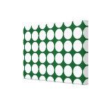 Lunares blancos en verde lona envuelta para galerías