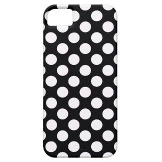 Lunares blancos negros - cubierta del iPhone 5 iPhone 5 Carcasa