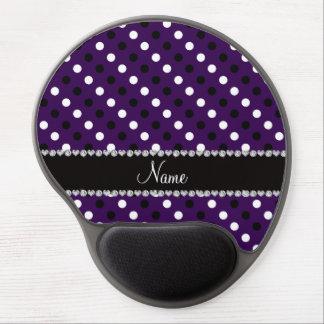 Lunares blancos negros púrpuras conocidos personal alfombrillas con gel