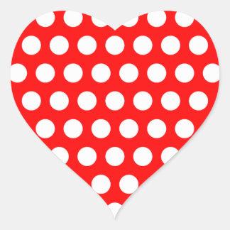 Lunares blancos pegatina en forma de corazón
