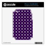 Lunares blancos púrpuras iPhone 2G skin